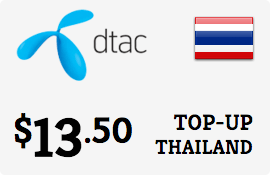 $13.50 DTAC Thailand Prepaid Wireless Top-Up