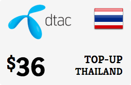 $36.00 DTAC Thailand Prepaid Wireless Top-Up