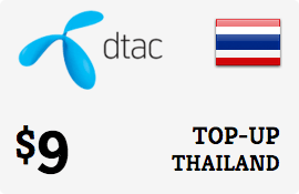 $9.00 DTAC Thailand Prepaid Wireless Top-Up