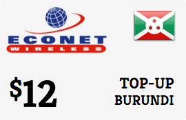 $12.00 Econet Burundi Prepaid Wireless Top-Up