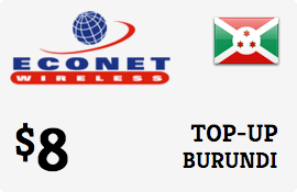 $8.00 Econet Burundi Prepaid Wireless Top-Up