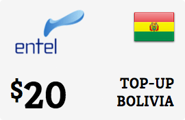 $20.00 Entel Bolivia  Prepaid Wireless Top-Up