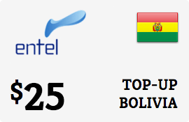 $25.00 Entel Bolivia  Prepaid Wireless Top-Up