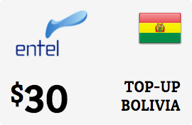 $30.00 Entel Bolivia  Prepaid Wireless Top-Up