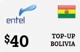 $40.00 Entel Bolivia  Prepaid Wireless Top-Up