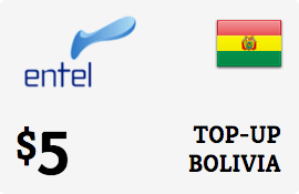 $5.00 Entel Bolivia  Prepaid Wireless Top-Up