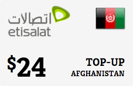$24.00 Etisalat Afghanistan Prepaid Wireless Top-Up