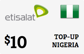 $10.00 Etisalat Nigeria Prepaid Wireless Top-Up