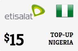 $15.00 Etisalat Nigeria Prepaid Wireless Top-Up