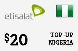 $20.00 Etisalat Nigeria Prepaid Wireless Top-Up