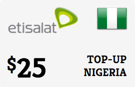 $25.00 Etisalat Nigeria Prepaid Wireless Top-Up