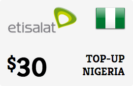 $30.00 Etisalat Nigeria Prepaid Wireless Top-Up