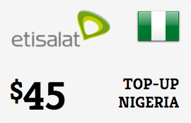 $45.00 Etisalat Nigeria Prepaid Wireless Top-Up