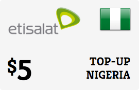 $5.00 Etisalat Nigeria Prepaid Wireless Top-Up