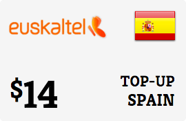 $14.00 Euskatel Spain Prepaid Wireless Top-Up