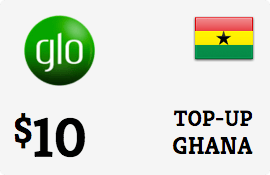 $10.00 Glo Mobile Ghana Prepaid Wireless Top-Up