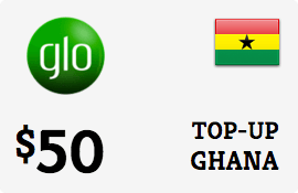 $50.00 Glo Mobile Ghana Prepaid Wireless Top-Up
