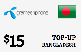 $15.00 Grameenphone Bangladesh Prepaid Wireless Top-Up