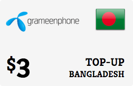 $3.00 Grameenphone Bangladesh Prepaid Wireless Top-Up