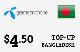 $4.50 Grameenphone Bangladesh Prepaid Wireless Top-Up
