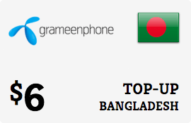 $6.00 Grameenphone Bangladesh Prepaid Wireless Top-Up
