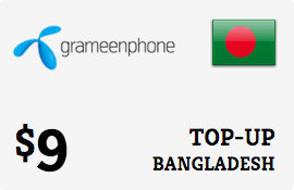 $9.00 Grameenphone Bangladesh Prepaid Wireless Top-Up