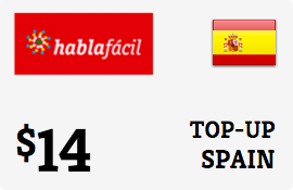 $14.00 Hablafacil Spain Prepaid Wireless Top-Up