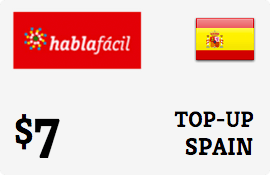 $7.00 Hablafacil Spain Prepaid Wireless Top-Up