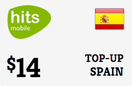 $14.00 Hits Mobile Spain Prepaid Wireless Top-Up