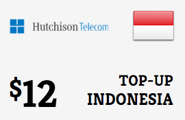 $12.00 Hutchison Three Indonesia Prepaid Wireless Top-Up