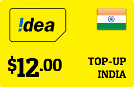 $12.00 Idea Cellular India Prepaid Wireless Top-Up