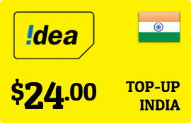 $24.00 Idea Cellular India Prepaid Wireless Top-Up