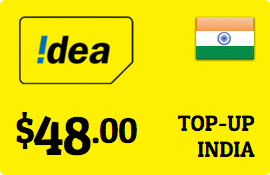 $48.00 Idea Cellular India Prepaid Wireless Top-Up