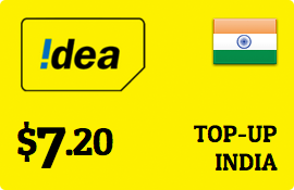 $7.20 Idea Cellular India Prepaid Wireless Top-Up