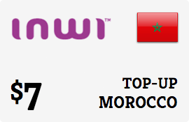 $7.00 Inwi Morocco Prepaid Wireless Top-Up