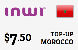 $7.50 Inwi Morocco Prepaid Wireless Top-Up
