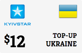 $12.00 Kyivstar Ukraine Prepaid Wireless Top-Up