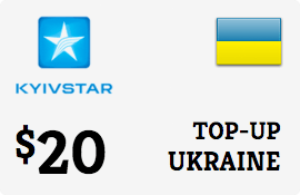 $20.00 Kyivstar Ukraine Prepaid Wireless Top-Up