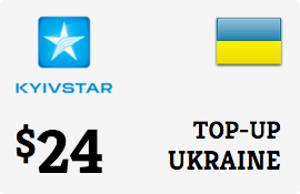 $24.00 Kyivstar Ukraine Prepaid Wireless Top-Up
