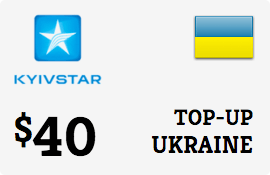 $40.00 Kyivstar Ukraine Prepaid Wireless Top-Up
