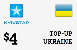 $4.00 Kyivstar Ukraine Prepaid Wireless Top-Up