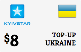 $8.00 Kyivstar Ukraine Prepaid Wireless Top-Up