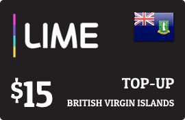 $15.00 Lime British Virgin Islands Prepaid Wireless Top-Up