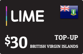 $30.00 Lime British Virgin Islands Prepaid Wireless Top-Up