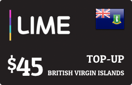 $45.00 Lime British Virgin Islands Prepaid Wireless Top-Up