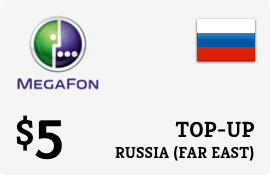 $5.00 Megafon (Far East) Russia Prepaid Wireless Top-Up