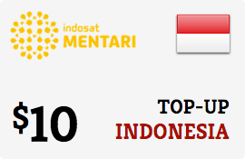 $10.00 Mentari Indosat Indonesia Prepaid Wireless Top-Up