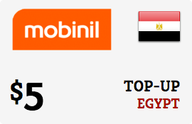 $5.00 Mobinil Egypt Prepaid Wireless Top-Up