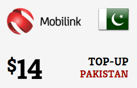 $14.00 Mobilink Pakistan Prepaid Wireless Top-Up