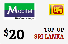 $20.00 Mobitel Sri Lanka Prepaid Wireless Top-Up